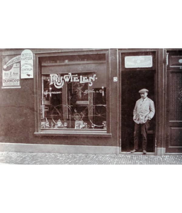Vintage Photograph, bicycle repair