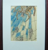 For sale. Spider, drawing, mixed media by Wim Retera