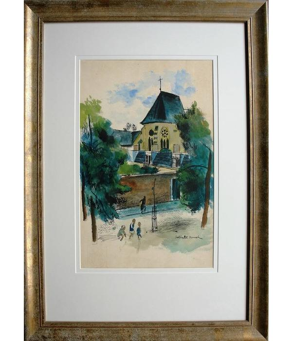 For sale, water color by Belgium painter Marcel Stobbearts
