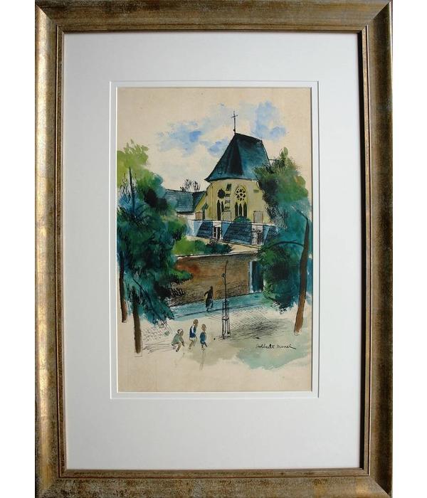 Te koop, mooie aquarel van de Belgische schilder Marcel Stobbearts