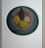 For sale, Lemons on a dish, screen print by Sees Vlag