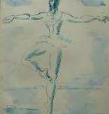 Mooie aquarel, ballerina door Gerard Hordijk