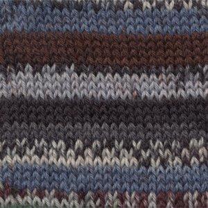 Drops Fabel Print blauw / bruin (521)