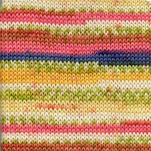 Drops Fabel Print geel/roze (903)