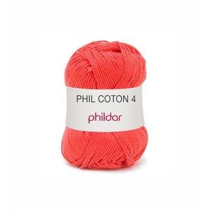 Phildar Phil Coton 4 Rouge (84) op=op