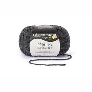 Schachenmayr Merino extrafine 120 antraciet (198)
