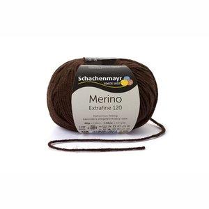 Schachenmayr Merino extrafine 120 donkerbruin (112)