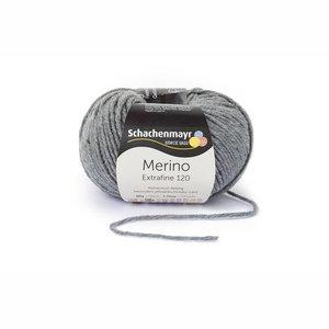 Schachenmayr Merino extrafine 120 middengrijs (192)