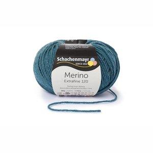 Schachenmayr Merino extrafine 120 oceaan blauw gemêleerd (166)