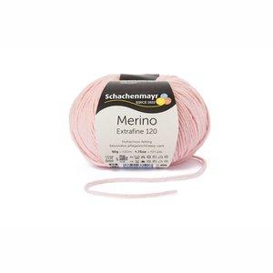 Schachenmayr Merino extrafine 120 poederroze (135)