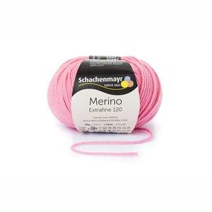 Schachenmayr Merino extrafine 120 roze (136)