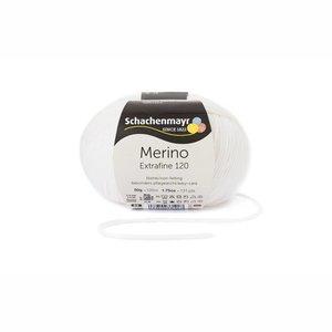 Schachenmayr Merino extrafine 120 wit (101)