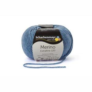 Schachenmayr Merino extrafine 120 wolkenblauw gemêleerd (156)