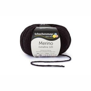 Schachenmayr Merino extrafine 120 zwart (199)