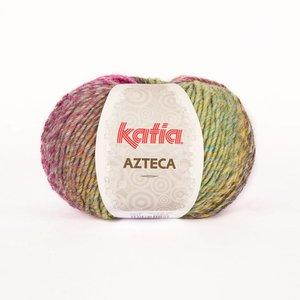 Katia Azteca grijs-zwart-oranje-fuchsia (7841)