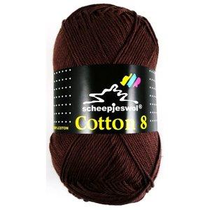 Scheepjes Cotton 8 donkerbruin (657)