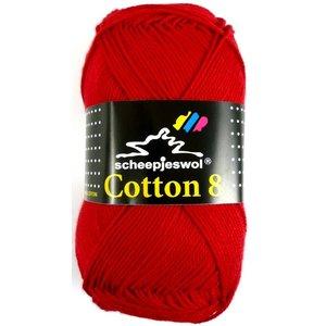 Scheepjes Cotton 8 rood (510)