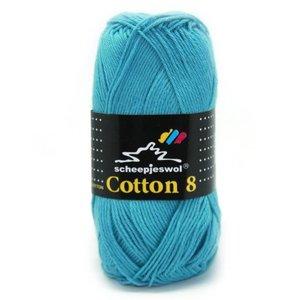 Scheepjes Cotton 8 zeeblauw (725)