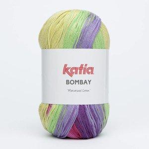 Katia Bombay groen/fuchsia (2026) op = op