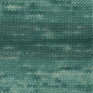 Drops Fabel Long Print smaragd (918)