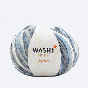 Katia Washi print blauw/grijs/wit (307)