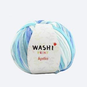 Katia Washi print blauw/wit (306)