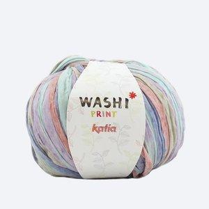 Katia Washi print lila/blauw/koraal (305)