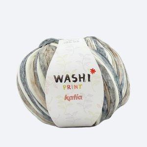 Katia Washi print bruin/grijs (302)