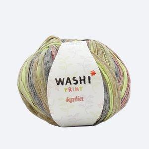Katia Washi print bruin/groen/roestbruin (301)