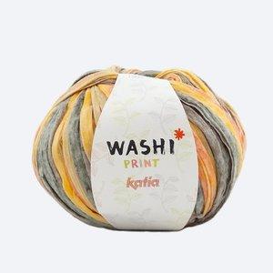 Katia Washi print bruin/oranje (300)