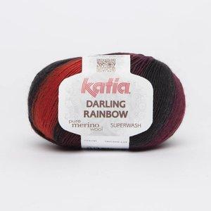 Katia Darling Rainbow Rood-Zwart-Lila (302)