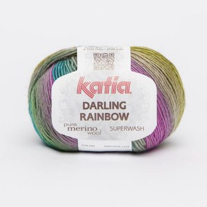 Katia Darling Rainbow Blauw-Groen-Oranje (307)