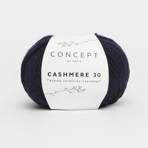 Katia Cashmere 30  210  donker blauw