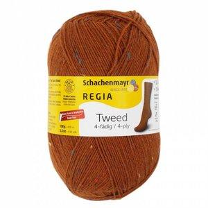 Schachenmayer Regia sokkenwol 4 draads 9065  tweed fuchs