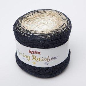 Katia Spring Rainbow  50  donkerblauw/beige/wit