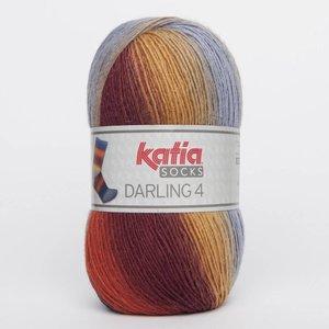 Katia Darling 4 socks 65 blauw/rood/geel