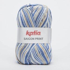 Katia Saigon Print 82 blauw/beige