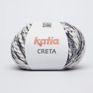 Katia Creta 72 Wit / Donkerblauw op=op