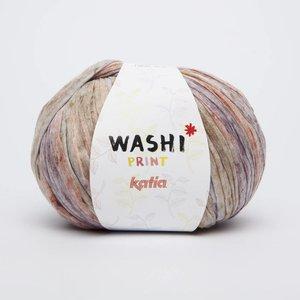 Katia Washi print 309 beige/grijs/paars op = op