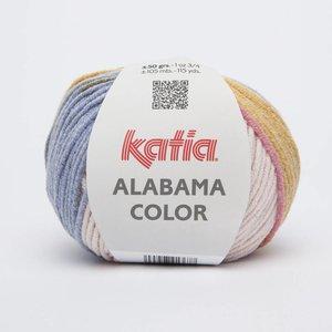 Katia Alabama color 107 ecru/jeans/wijnrood/mosterdgeel