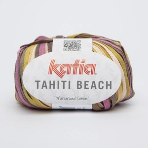 Katia Tahiti Beach 318 zalm/olijfgroen/bleekrood op=op
