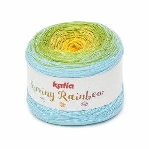 Katia Spring Rainbow Geel/Pistache/Waterblauw (61) op = op