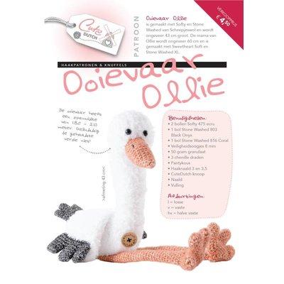 Haakpatroon CuteDutch ooievaar Ollie