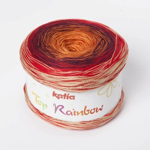 Katia Top Rainbow 86 Oranje / Rood