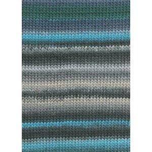 Lang Yarns Viva 79 Turquoise/Groen/Grijs