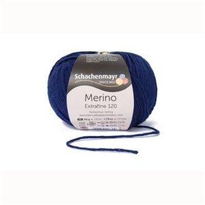 Schachenmayr Merino extrafine 120  158 Donkerblauw