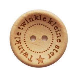 CuteDutch Houten knoop - Twinkle twinkle kleine ster 25 mm