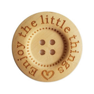 CuteDutch Houten knoop -Enjoy the little things 40 mm