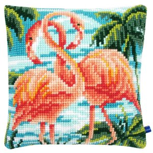Vervaco Kussen flamingo's
