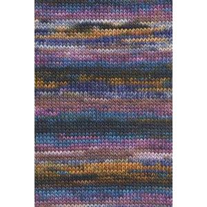Lang Yarns Mille Colori 200 45 Bruin/paars/geel/groen/blauw